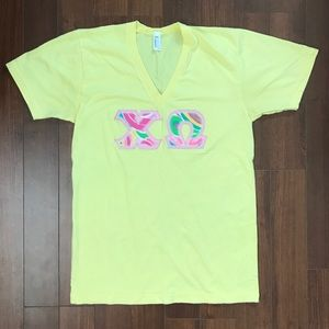 Lily Pulitzer Chi Omega Letters